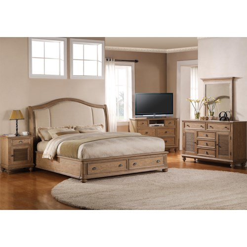 riverside furniture coventry full queen bedroom group