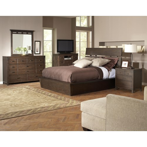 riverside furniture promenade queen bedroom group dunk