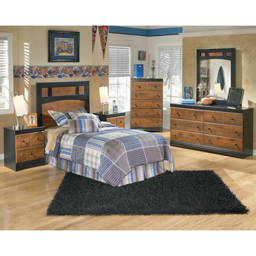 Signature design by ashley aimwell twin bedroom group for Furniture 500 companies