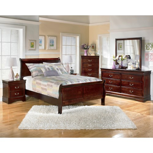 Signature design by ashley alisdair 5 piece full bedroom for Bedroom furniture groups
