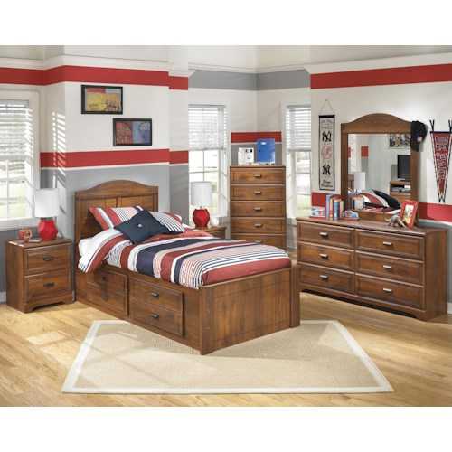 Signature Design By Ashley Barchan Note Bed Includes