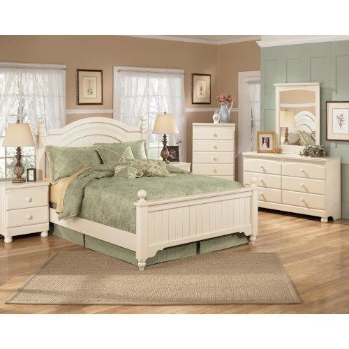 Signature design by ashley furniture cottage retreat queen bedroom group sam 39 s appliance Cottage retreat bedroom set