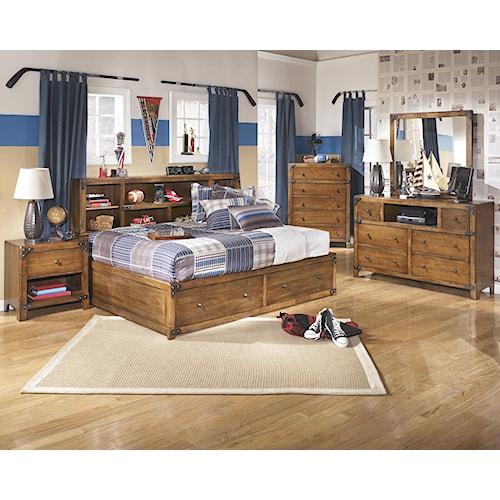 Signature Design By Ashley Delburne Full Bedroom Group Del Sol Furniture Bedroom Group