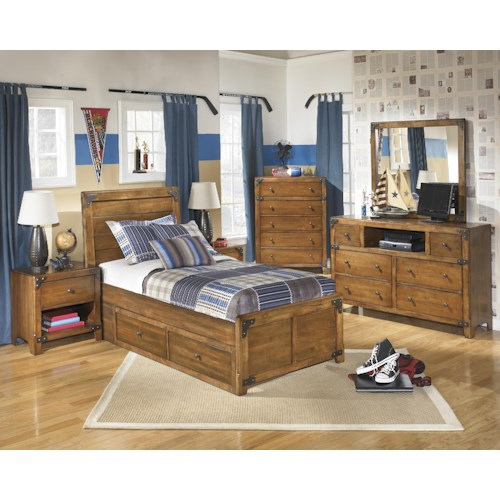 Signature Design By Ashley Delburne Twin Bedroom Group Prime Brothers Furniture Bedroom