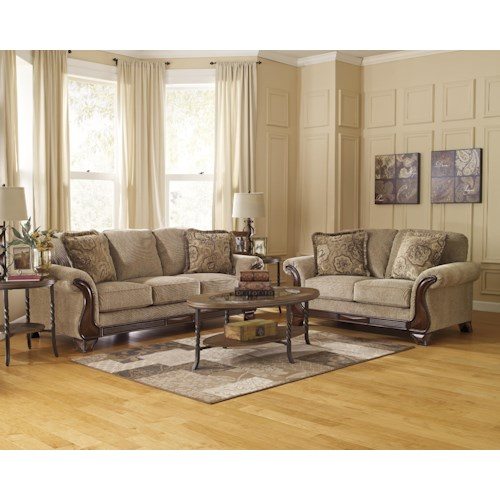Signature Design By Ashley Lanett Stationary Living Room Group Del Sol Furniture Upholstery