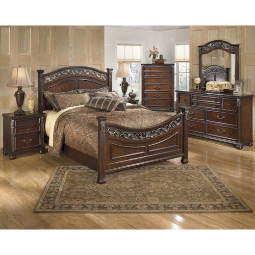 Signature Design By Ashley Leahlyn Queen Bedroom Group Knight Furniture Mattress Bedroom