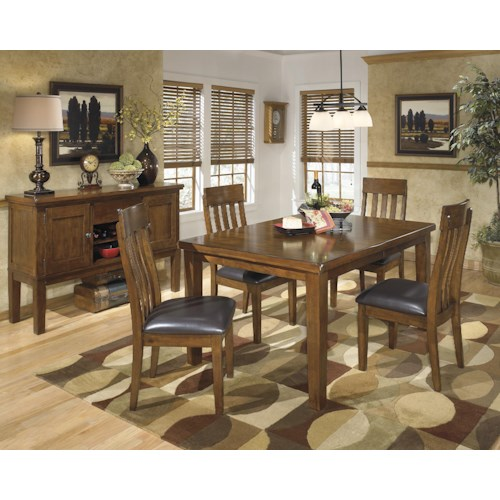 Informal Dining Room: Ashley Signature Design Ralene Casual Dining Room Group