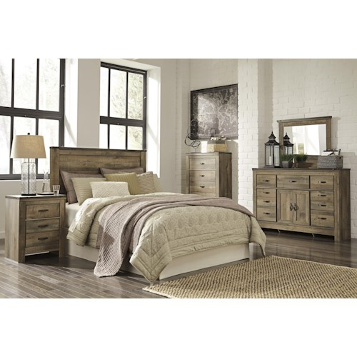 Ashley signature design trinell queen bedroom group dunk for Bedroom furniture groups