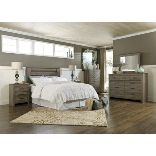Signature Design By Ashley Zelen Full Queen Bedroom Group Furniture Fair North Carolina