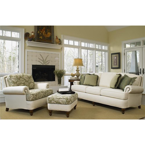 Smith Brothers 358 Stationary Living Room Group Wayside