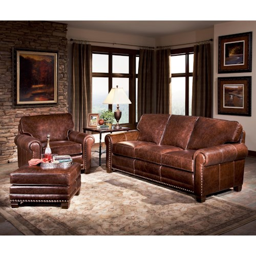 Smith Brothers 393 Stationary Living Room Group Wayside