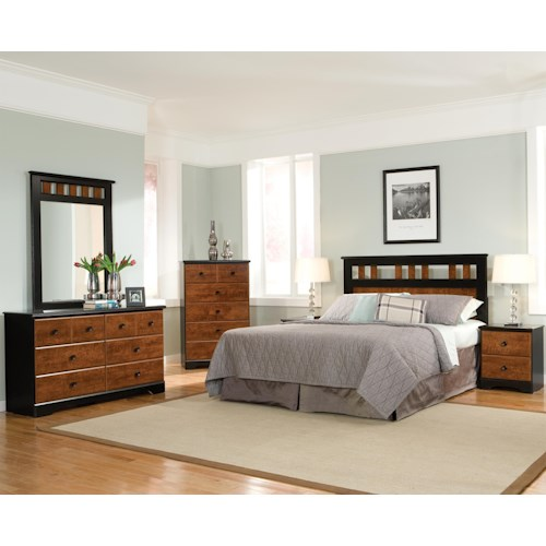 furniture steelwood full queen bedroom group at standard furniture