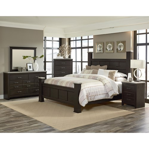 Standard Furniture Stonehill Dark King Bedroom Group Standard Furniture Bedroom Groups