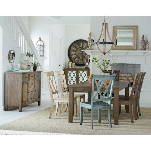 Dining Room Group Vintage By Standard Furniture Wilcox Furniture Casual Dining Room Group