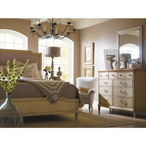 Stanley furniture european cottage queen bedroom group for Bedroom furniture groups