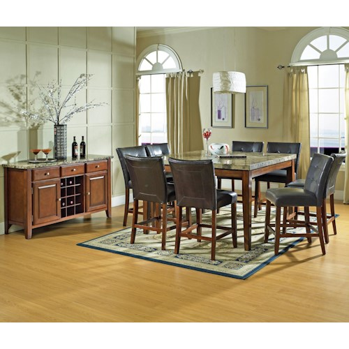 Vendor 3985 Montibello Casual Dining Room Group Becker Furniture World Casual Dining Room