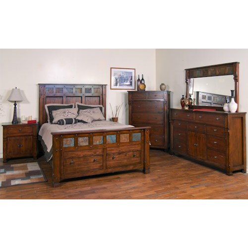 Sunny designs santa fe queen bedroom group conlin 39 s furniture bedroom groups for Sunny designs bedroom furniture