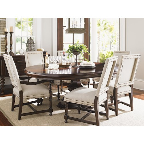 dining room groups tommy bahama home kilimanjaro formal dining room