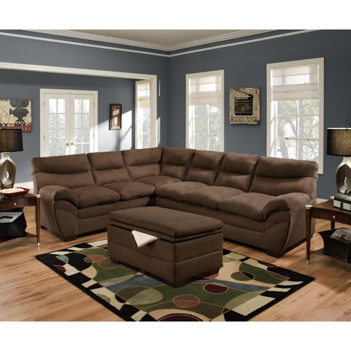 Simmons upholstery 9515 stationary living room group for Living room furniture groups