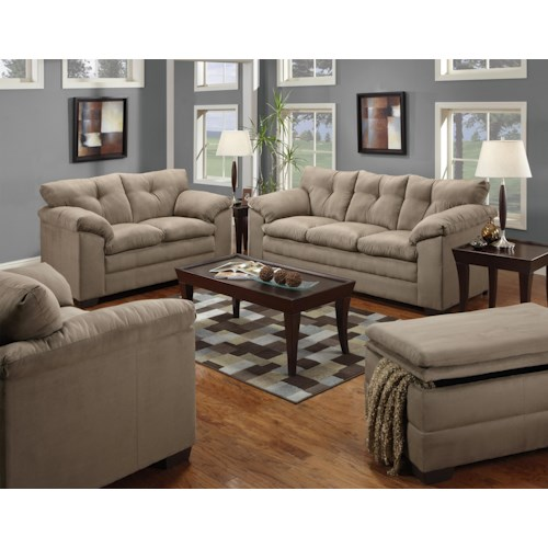 United Furniture Industries 6565 Stationary Living Room