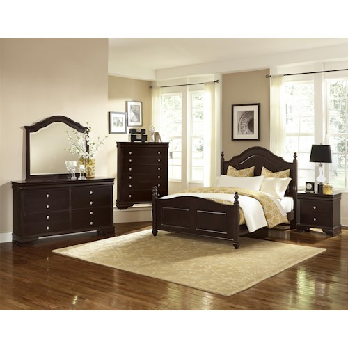 Vaughan Bassett French Market King Bedroom Group Hudson