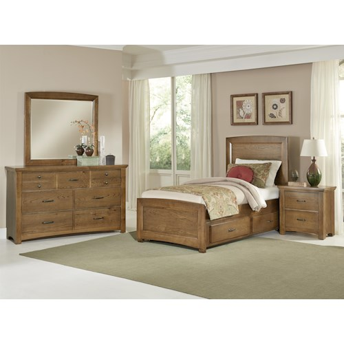 Vaughan Bassett Transitions Twin Bedroom Group Hudson 39 S