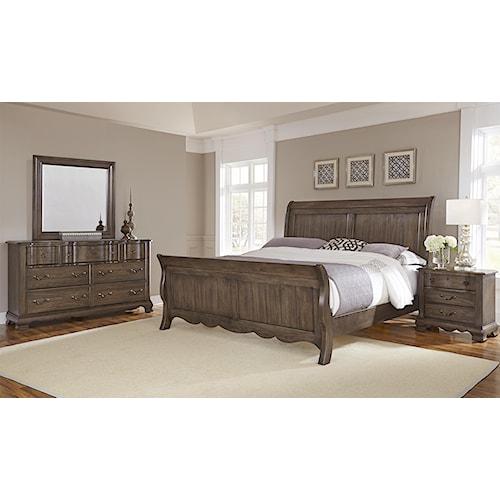 Vaughan Bassett Villa Sophia King Bedroom Group Wayside Furniture Bedroom
