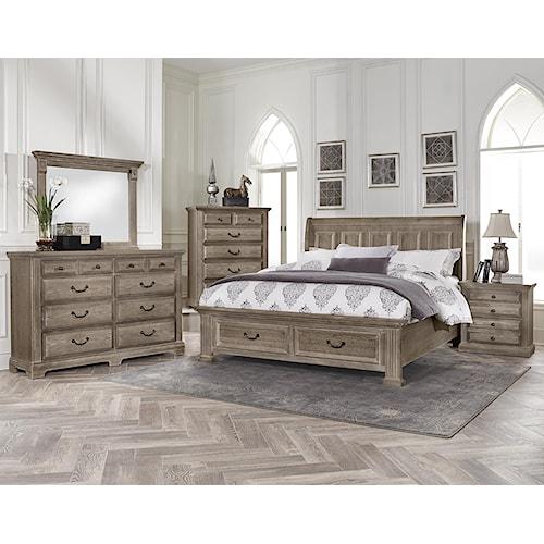 home bedroom groups vaughan bassett woodlands queen bedroom group