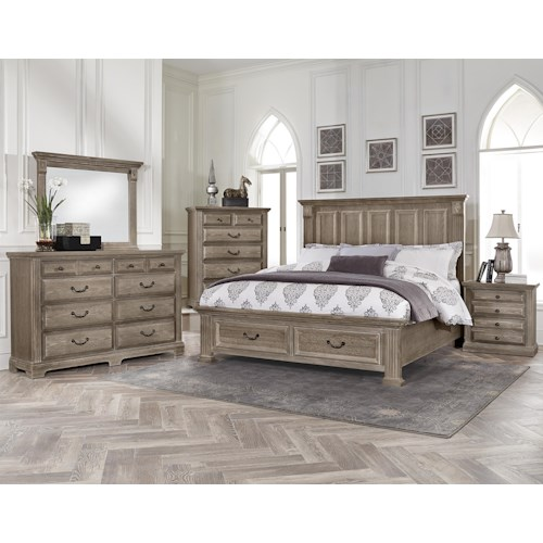 Vaughan Bassett Woodlands Queen Bedroom Group Belfort Furniture Bedroom Groups