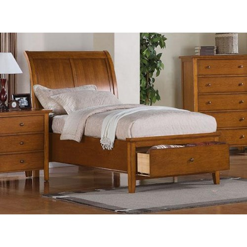 Winners only vintage twin bedroom group godby home for Bedroom furniture indianapolis