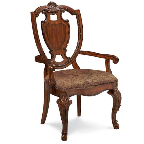 A.R.T. Furniture Inc Old World Shield Back Arm Chair
