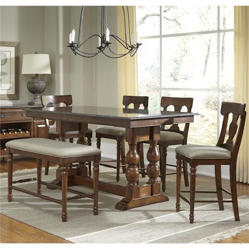 AAmerica Andover Park 5 Piece Counter Height Set