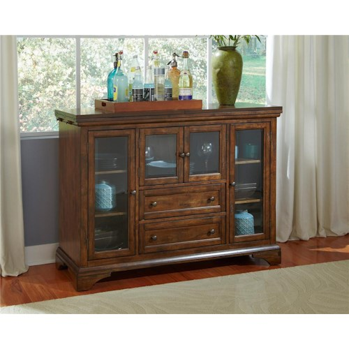AAmerica Mariposa Flip Top Server with Glass Doors
