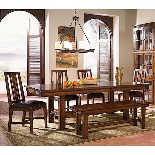 AAmerica Mesa Rustica 5Pc Dining Room