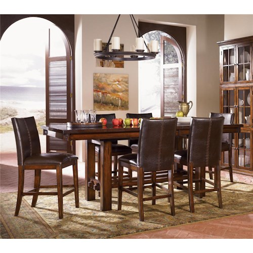 AAmerica Mesa Rustica 7Pc Counter Height Dinette