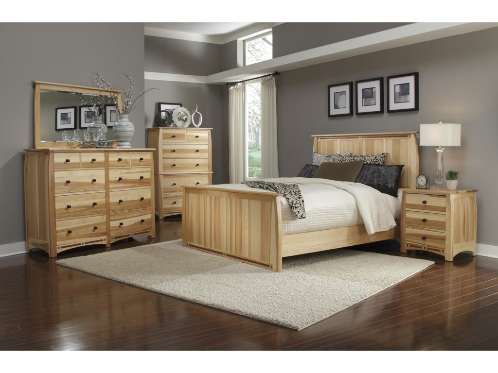 Shown with Mirror, Chest, Panel Bed & Nightstand