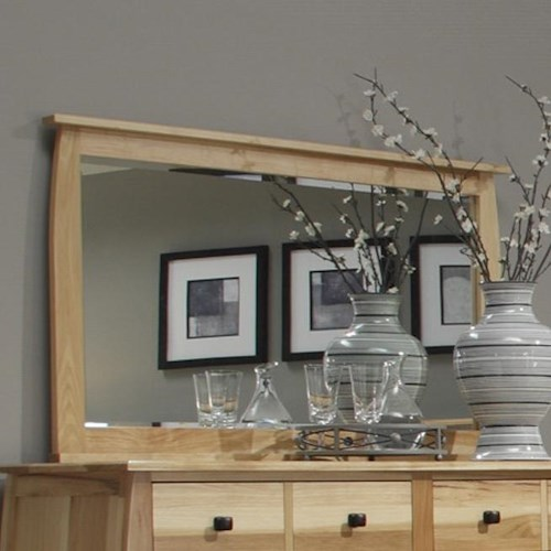 AAmerica Adamstown Landscape Mirror Framed in Solid Hickory