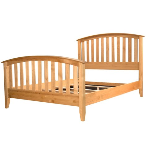 AAmerica Alderbrook Queen Slat Arched Bed
