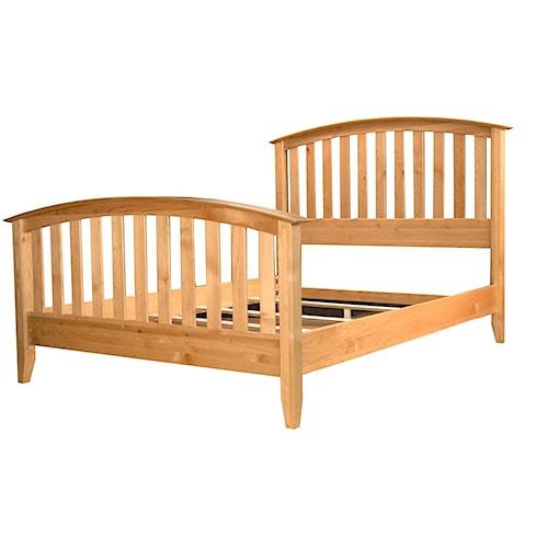 AAmerica Alderbrook Cal. King Slat Arched Bed
