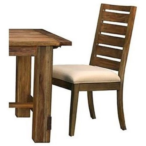AAmerica Anacortes Ladderback Dining Side Chair Upholstered Seat