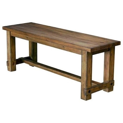 AAmerica Anacortes Solid Wood Dining Bench with Trestle Styling