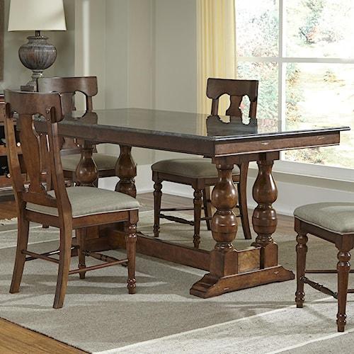 AAmerica Andover Park Bluestone Hilo Rectangular Table