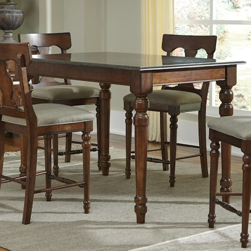 AAmerica Andover Park Bluestone Rectangular Gathering Height Table