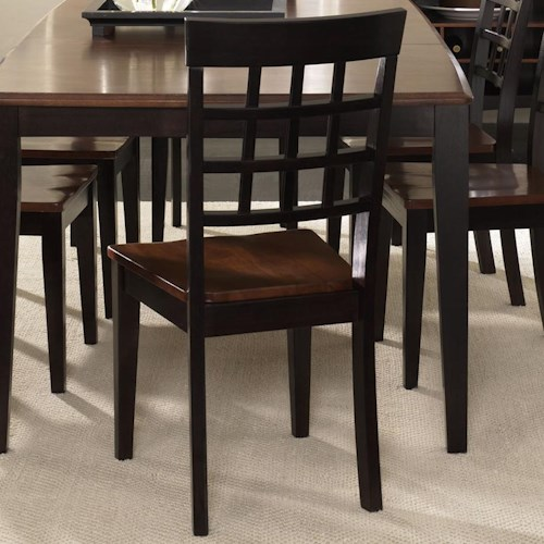 AAmerica Bristol Point Grid Back Side Chair