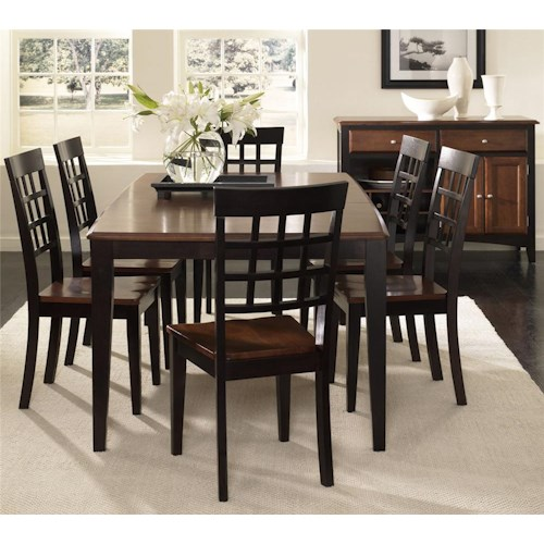 AAmerica Bristol Point 7 Piece Dining Set with 18