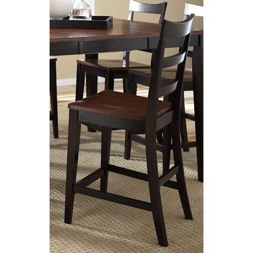 AAmerica Bristol Point Bristol Point Ladderback Counter Stool