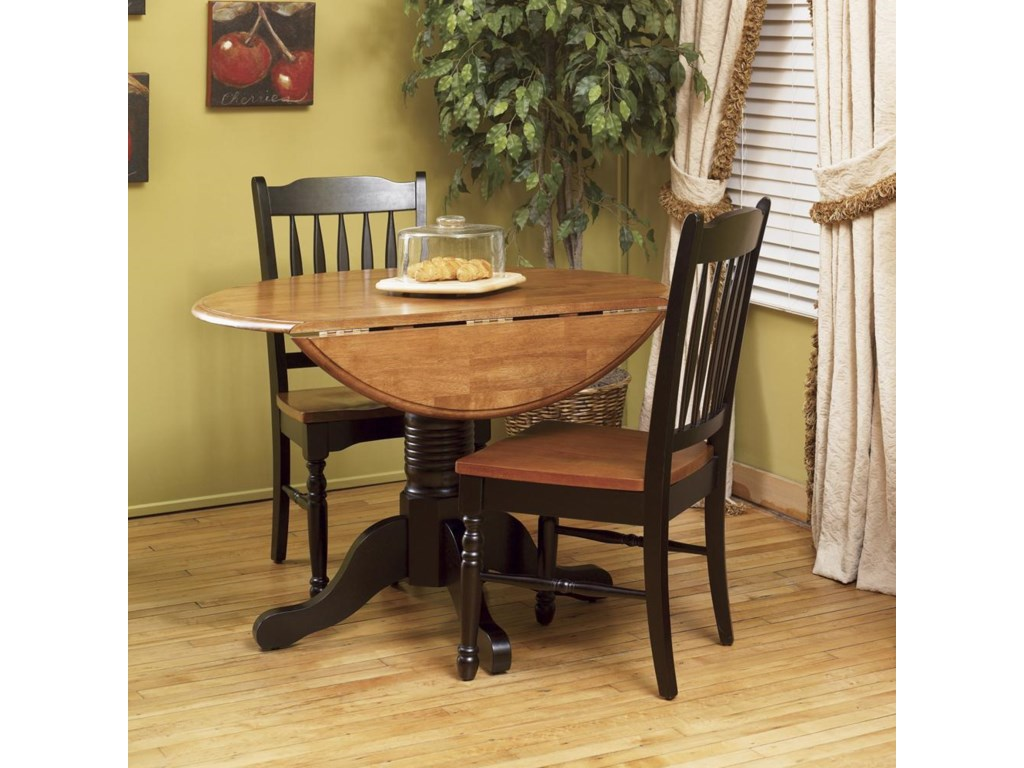 Drop Leaf Table with School House Chairs