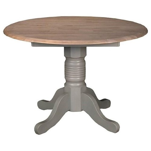 AAmerica British Isles Round Dropleaf Table with Pedestal Base
