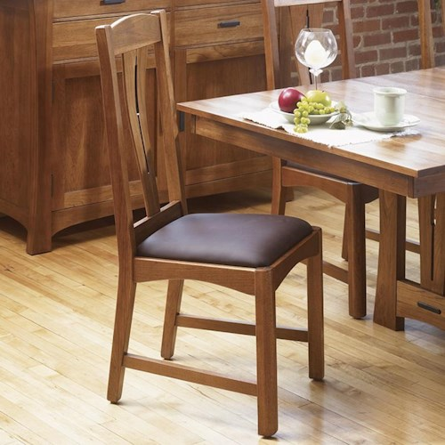 AAmerica Cattail Bungalow Slat Back Comfort Side Dining Chair