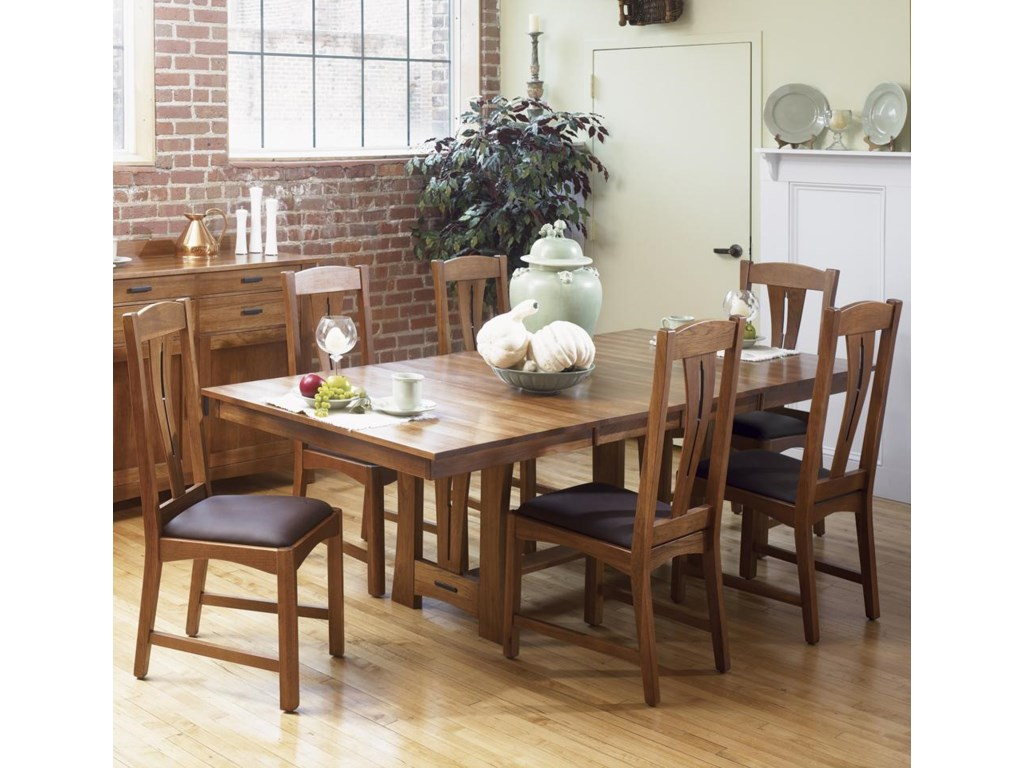 Shown with trestle table